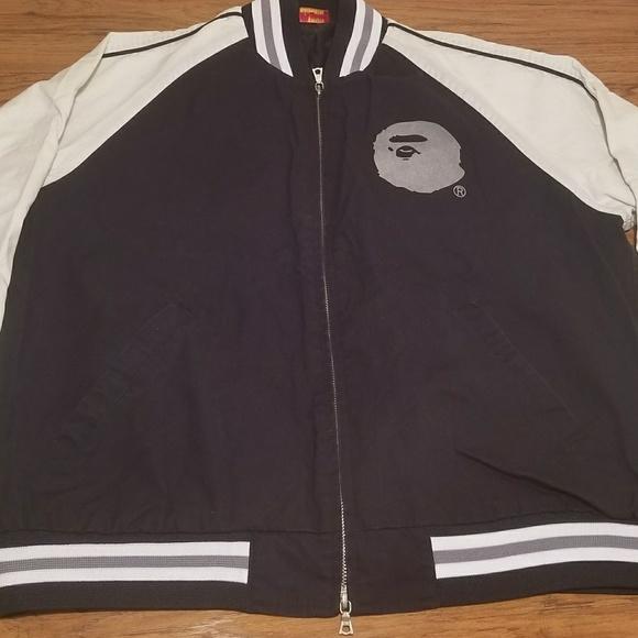 e04556ddd75 Bape Jackets   Blazers - Vintage Bape Zip Up Varsity Jacket (2001)