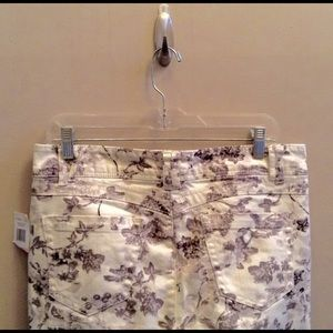 Wit & Wisdom Ab-solution Floral Ankle Jeans 10 NWT