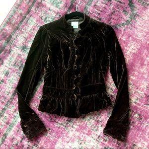 Urban Outfitter Kimchi Blue Velvet Blazer S/P
