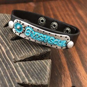 Jewelry - Gypsy Soul, Black Leather Bracelet