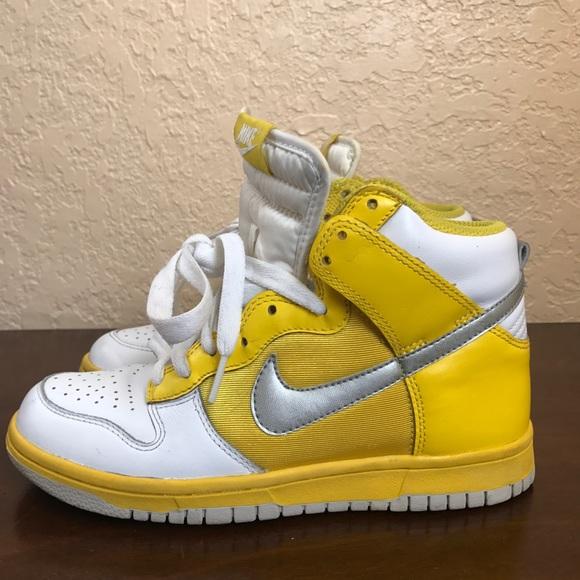 Nike Dunks High Women's Yellow Mellow Size 6.5