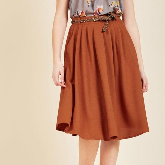 1bbf06609d Modcloth Skirts | New Breathtaking Tiger Lilies Midi Skirt | Poshmark