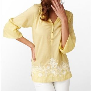 Lilly Pulitzer Elsa Embroidered Tunic Top Sz Small