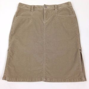 The North Face Brown Corduroy Skirt
