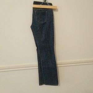 Denim - Dark wash straight leg jeans