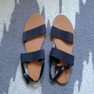 BDG black strap sandal