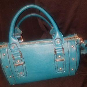 Melie Bianco dark teal purse
