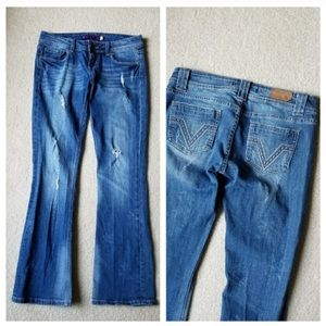 Vigoss Collection V Pocket Bootcut Jeans