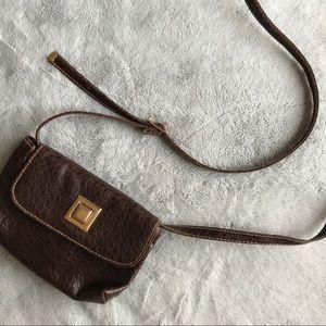 Vintage Capezio Crossbody Pebbled Leather Mini Bag
