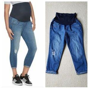 A Glow Maternity Crop Jeans