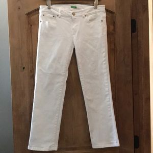 Lilly Pulitzer White Cropped Jeans