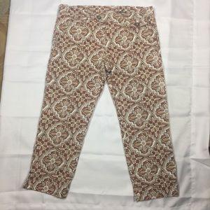 Anthropologie Idra floral crop Capri pants