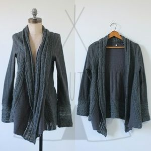 Anthro Knitted & Knotted Regan Mix-Stitch Cardigan
