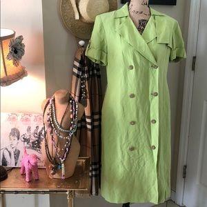 Talbots silk/linen dress