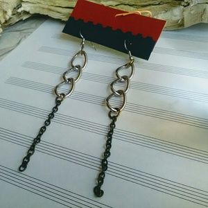 Jewelry - Handmade Chain Earrings, Long Gypsy Earrings