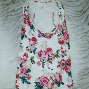 Floral Lace Back Tank Top