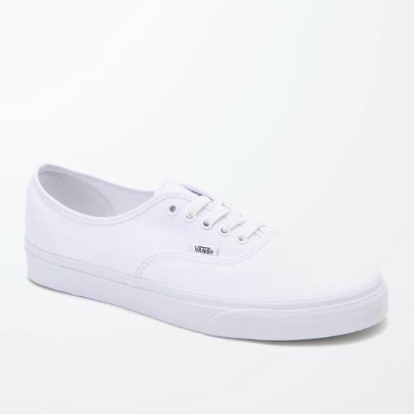 fca3ee69056 White Vans Laceup 9.5 Women s