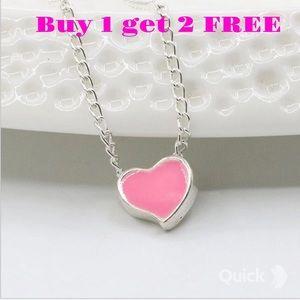 Jewelry - Little Enamel Pink Heart Necklace Neck8p