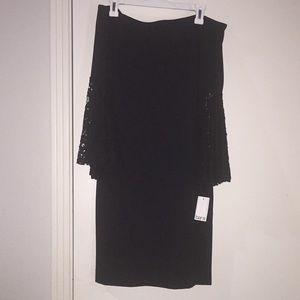 Off shoulder black cocktail dress size large