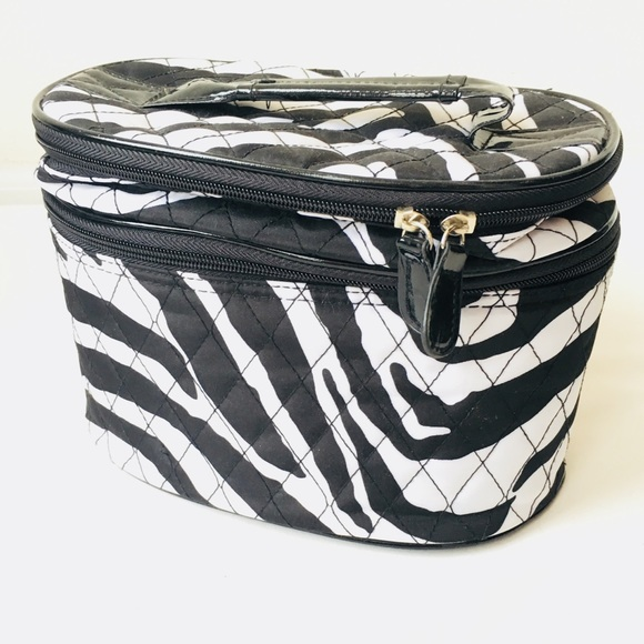 Handbags - Zebra 2-Tier Cosmetic Case/Travel Case