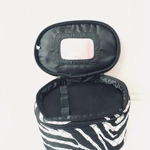 Bags - Zebra 2-Tier Cosmetic Case/Travel Case