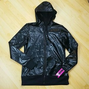 Material Girl Hooded Jacket NWT