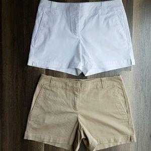 NY & Co bundle of 2 chino shorts