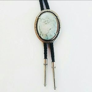 Other - 💙bolo tie silver with beautiful light blue stone