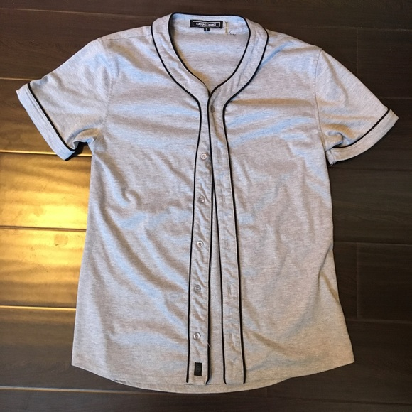 uk availability fd600 b8fa8 Foreign Exchange. Grey Baseball Jersey