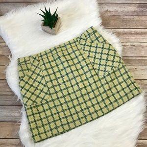 J.Crew Factory Wool Plaid Mini A-line Skirt