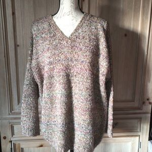 Sweaters - Oversized Knit V-neck Sweater GUC Approx Sz Large