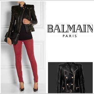 Balmain Paris Red Skinny Jeans