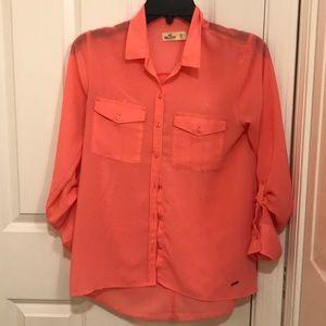 Sheer Button Down blouse