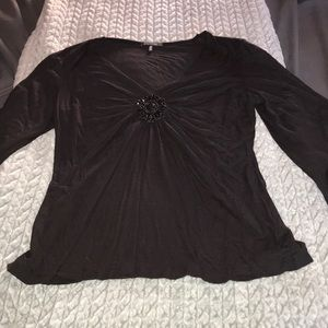 Black Womens Dress Top Size Medium