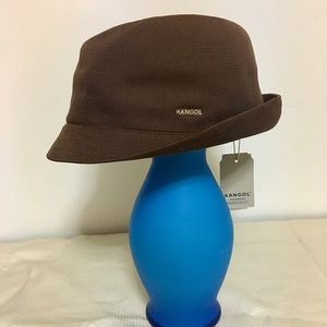Kangol Tropic Duke Fedora Hat Size XL in Brown