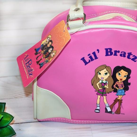 Lil Bratz Silver//Gray Colored Kids Small Size Knapsack Messenger Bag