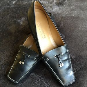 Ann Taylor Black Leather Flats