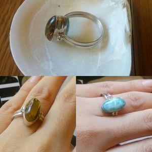Jewelry - Happy hour larimar/ambar ring