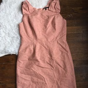 Monteau Pink Bow Shoulder Fitted Sleeveless Dress