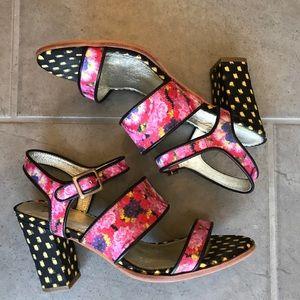 Anthropologie Miss Albright floral heels size 8