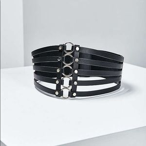 Wide Metal Ring Belt