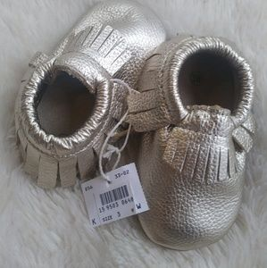 Other - NWT Baby Gold Moccasins