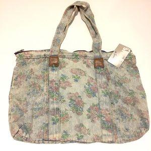 Vintage Denim Floral Bag NWT
