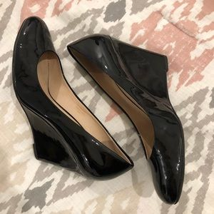 Black Patent Leather Via Spiga wedges