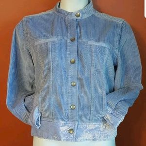 J. Jill Corduroy & Crushed Velvet Jacket size PL