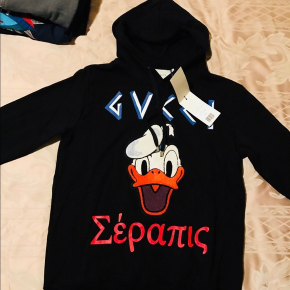 2ffe0c8dc5a Gucci embroidered Donald Duck sweatshirt