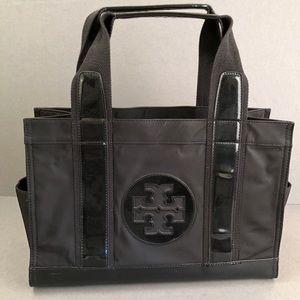 TORY BURCH 'Mini Tory' Nylon And Patent Tote Bag