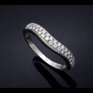 bvlgari corona diamond band in platinum size 5
