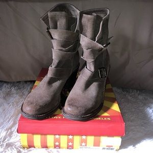 Jeffrey Campbell France Boot Grey Suede Sz. 8