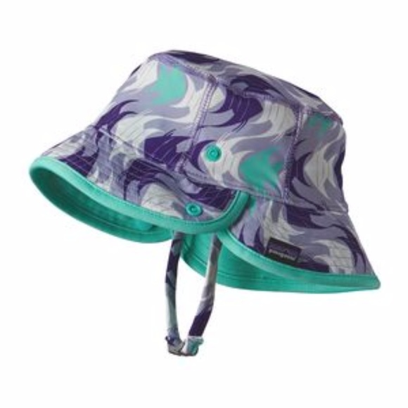 8d3830a31d14a Patagonia Children s Sol Hat 50 UPF Fish Wave New